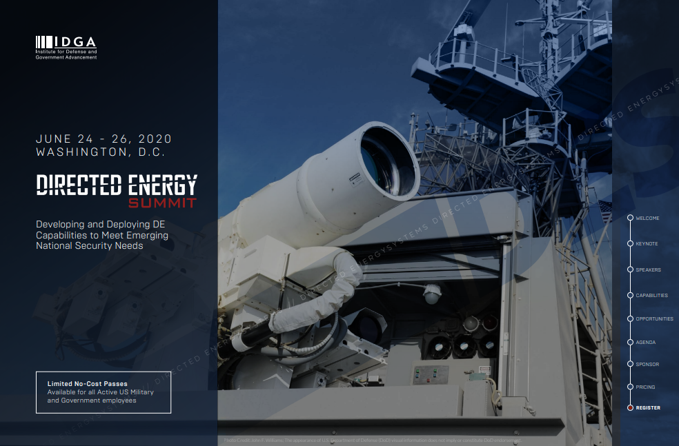 Directed Energy Systems 2020 Official Agenda