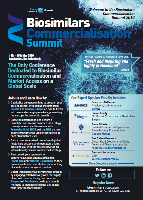 Biosimilars Commercialisation Summit 2019 Event Guide
