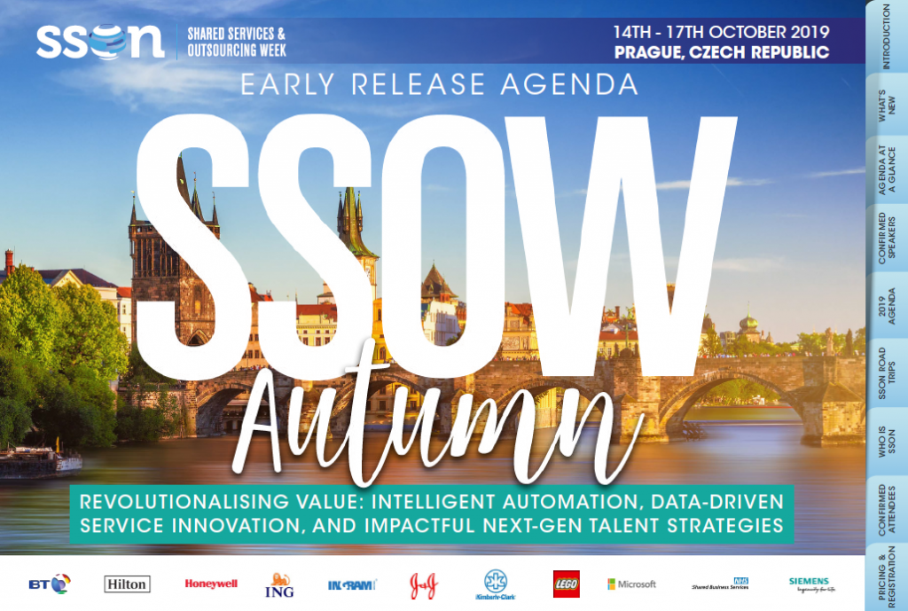 Shared Services and Outsourcing Week, Europe 2019 - The Autumn Edition
