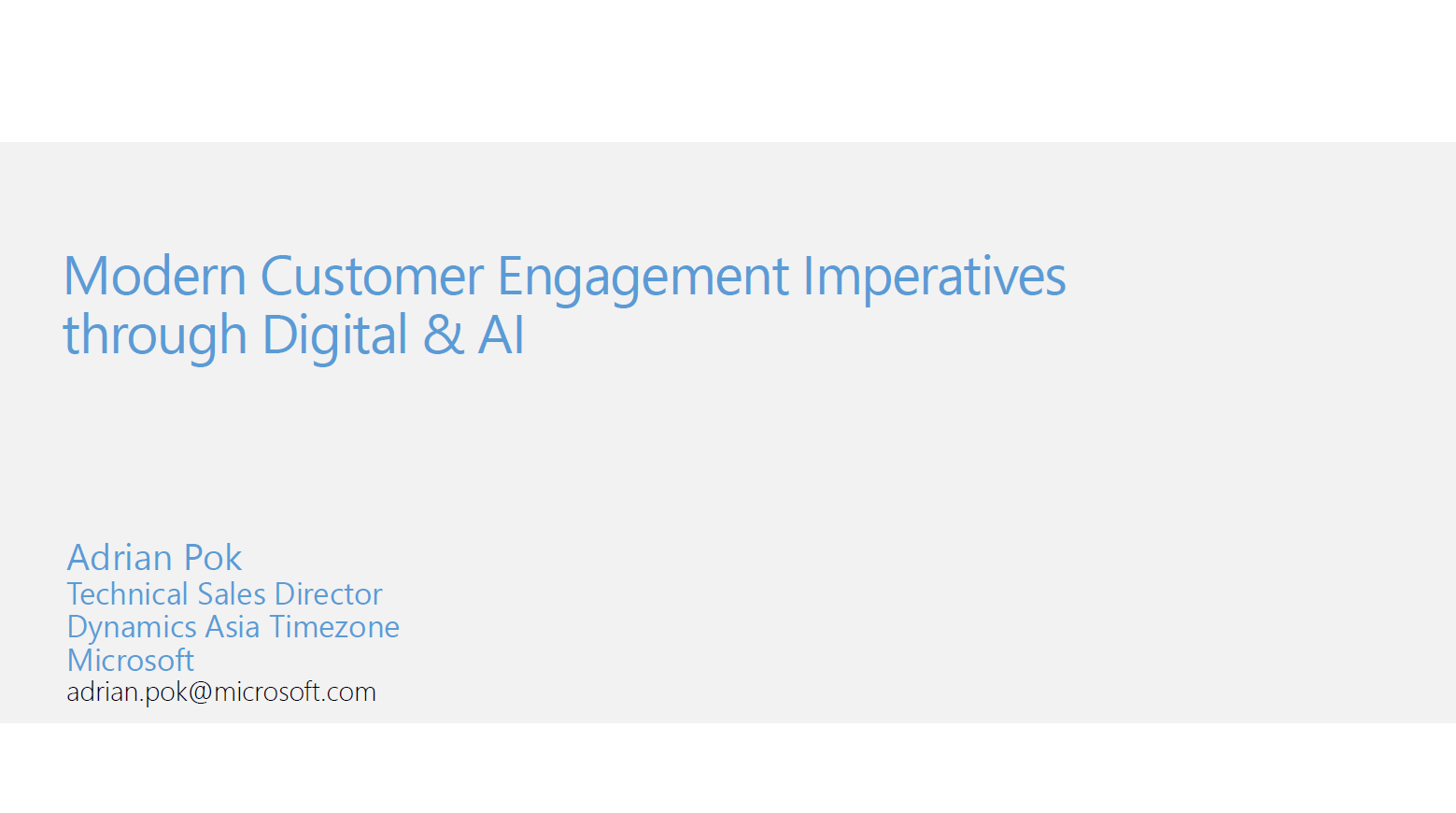 Modern Customer Engagement Imperatives through Digital & AI