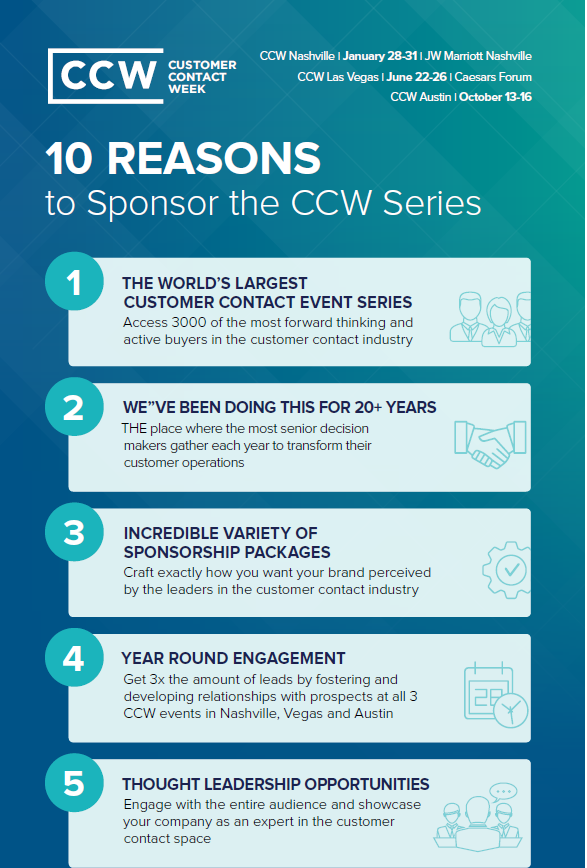 10 Reasons to Sponsor CCW