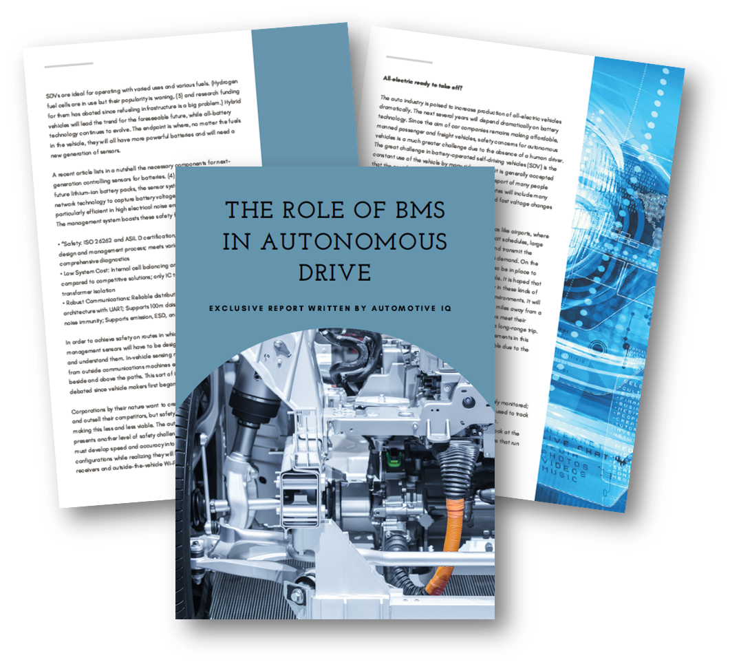The role of BMS in autonomous drive