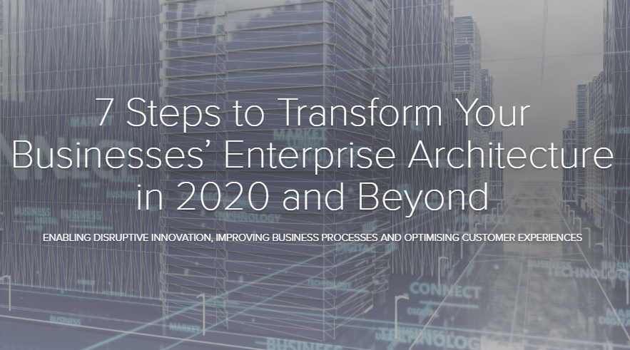 7 Steps to Transform Your Enterprise Architecture: Enabling Disruptive Innovation, Improving Business Processes and Optimising Customer Experiences