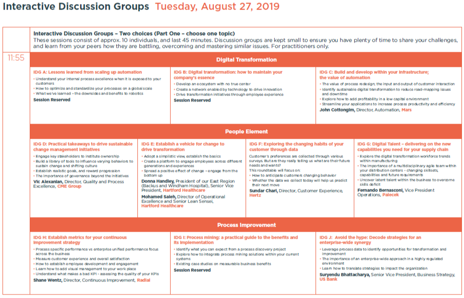 OPEX Summer 2019 - spex - Sessions Guide