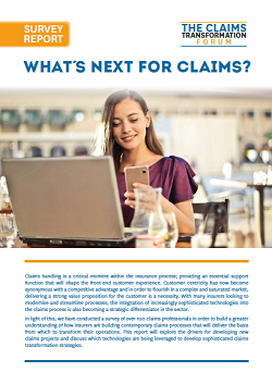 Survey Report 2018: What's Next For Claims?