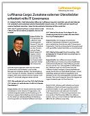 Interview Lufthansa Cargo: Zunahme externer Dienstleister erfordert reife IT Governance