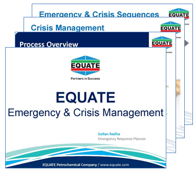 Presentation on emergency and crisis management by EQUATE