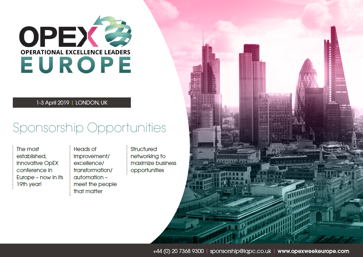 OPEX Leaders Europe - spex - Sponsorship info pack