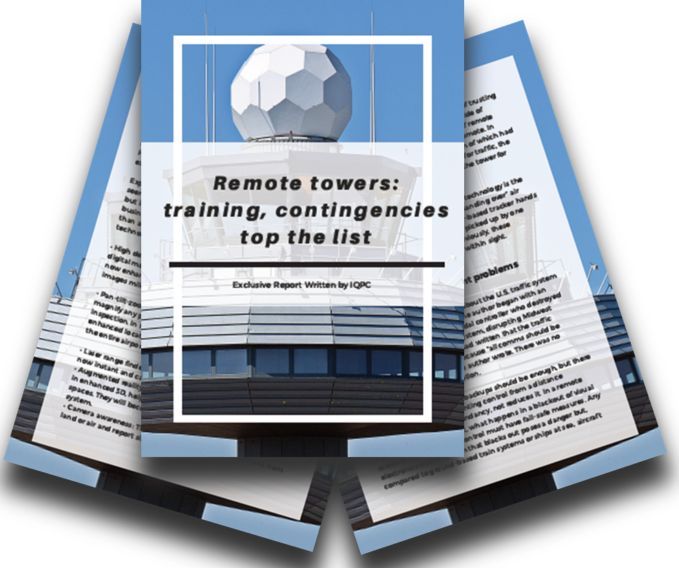 Remote towers: training, contingencies top the list