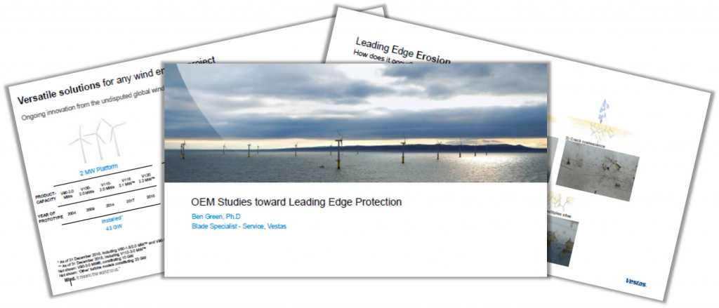 Vestas Past Presentation: OEM Studies Toward Leading Edge Protection