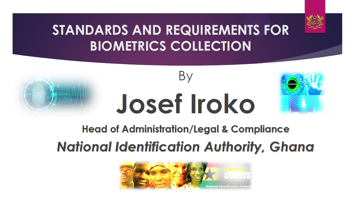 Standards and Requirements for Biometrics Collection