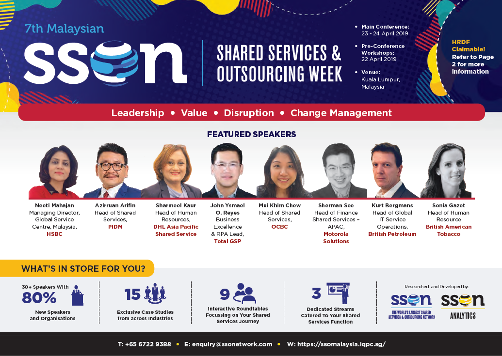 Malaysian Shared Services & Outsourcing Week 2019 Sponsorship Prospectus