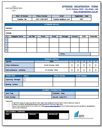 Delegate Registration Form