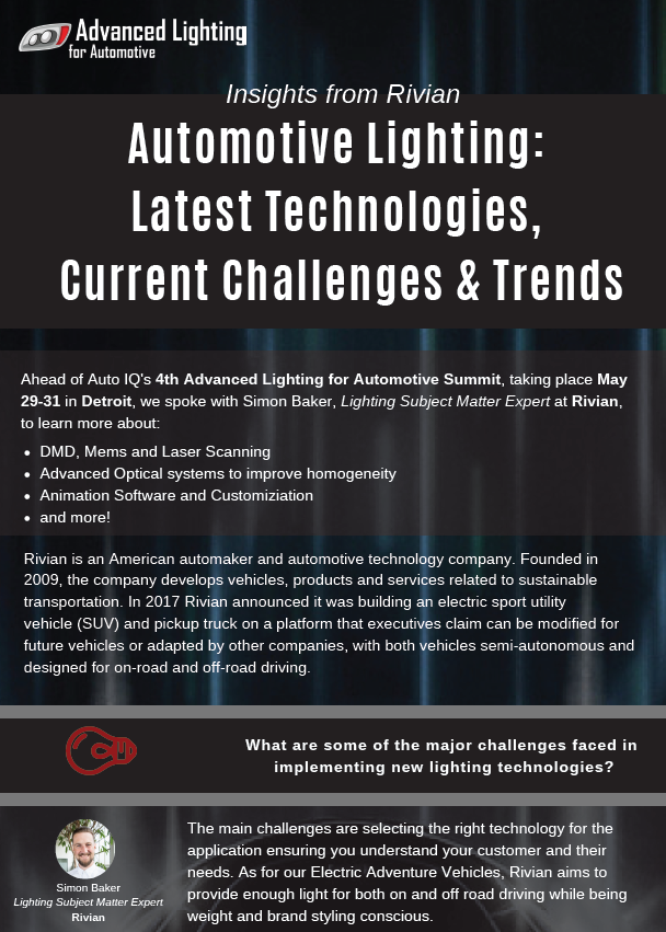 Automotive Lighting: Latest Technologies, Current Challenges & Trends