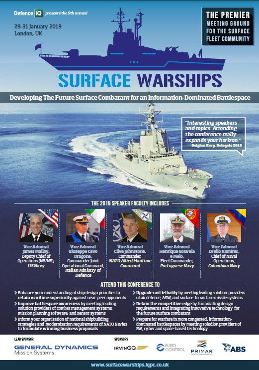 Surface Warships 2019 Programme