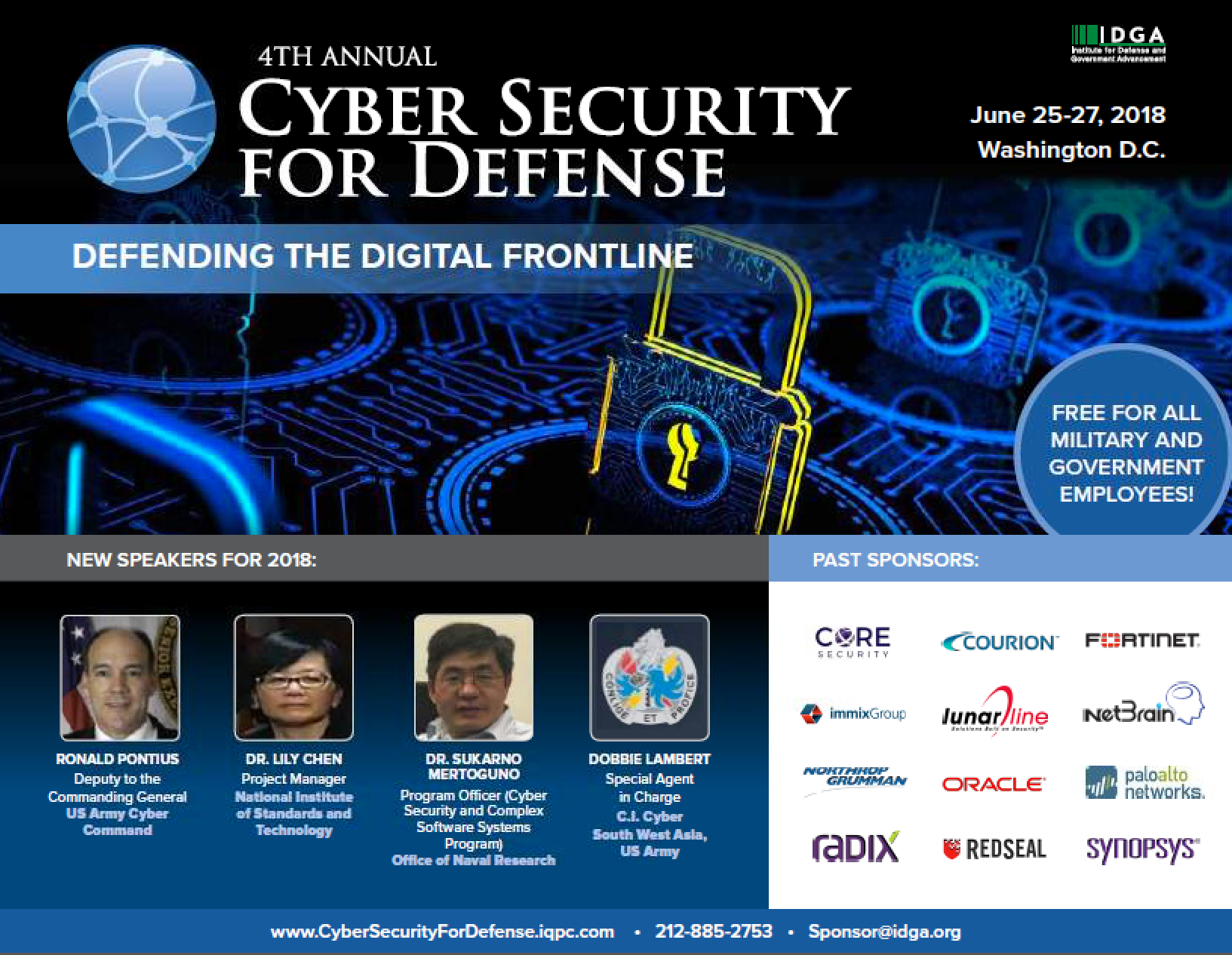 Cyber Security For Defense 2018 Prospectus