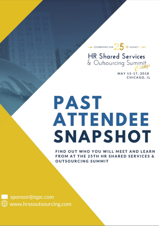 25th Annual HR Shared Services & Outsourcing Summit Attendee Profile Report