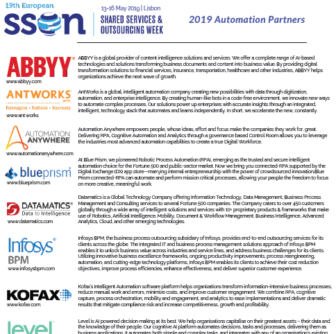 SSOW Spring 2019 - spex - 2019 Automation Partners
