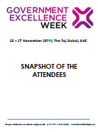 Attendee Snapshot - Government Excellence Week 2019