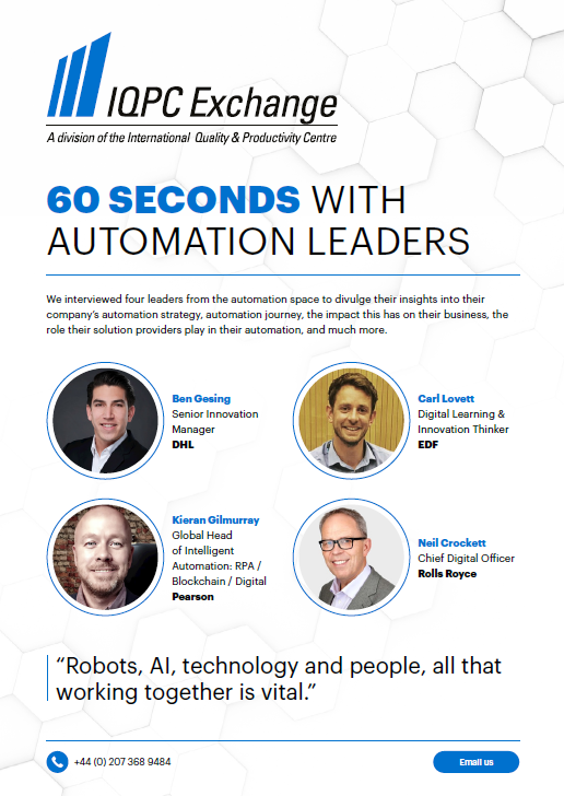 60 Seconds with Automation Leaders