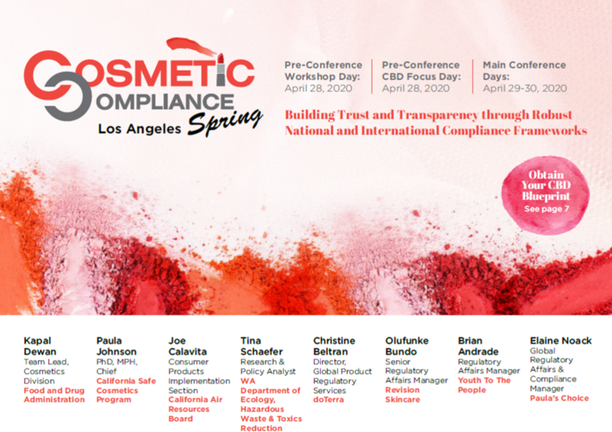 Cosmetic Compliance Spring 2020 Agenda