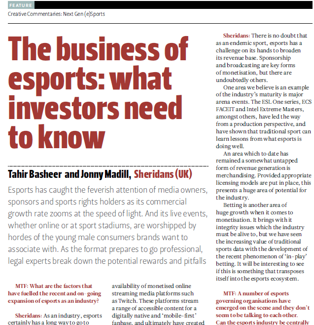The Business of Esports - What Investors Need to Know