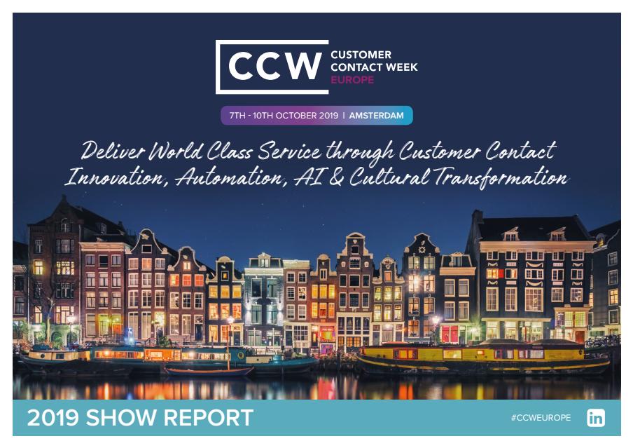Customer Contact Week Show Report 2019 | CCW Europe 2020