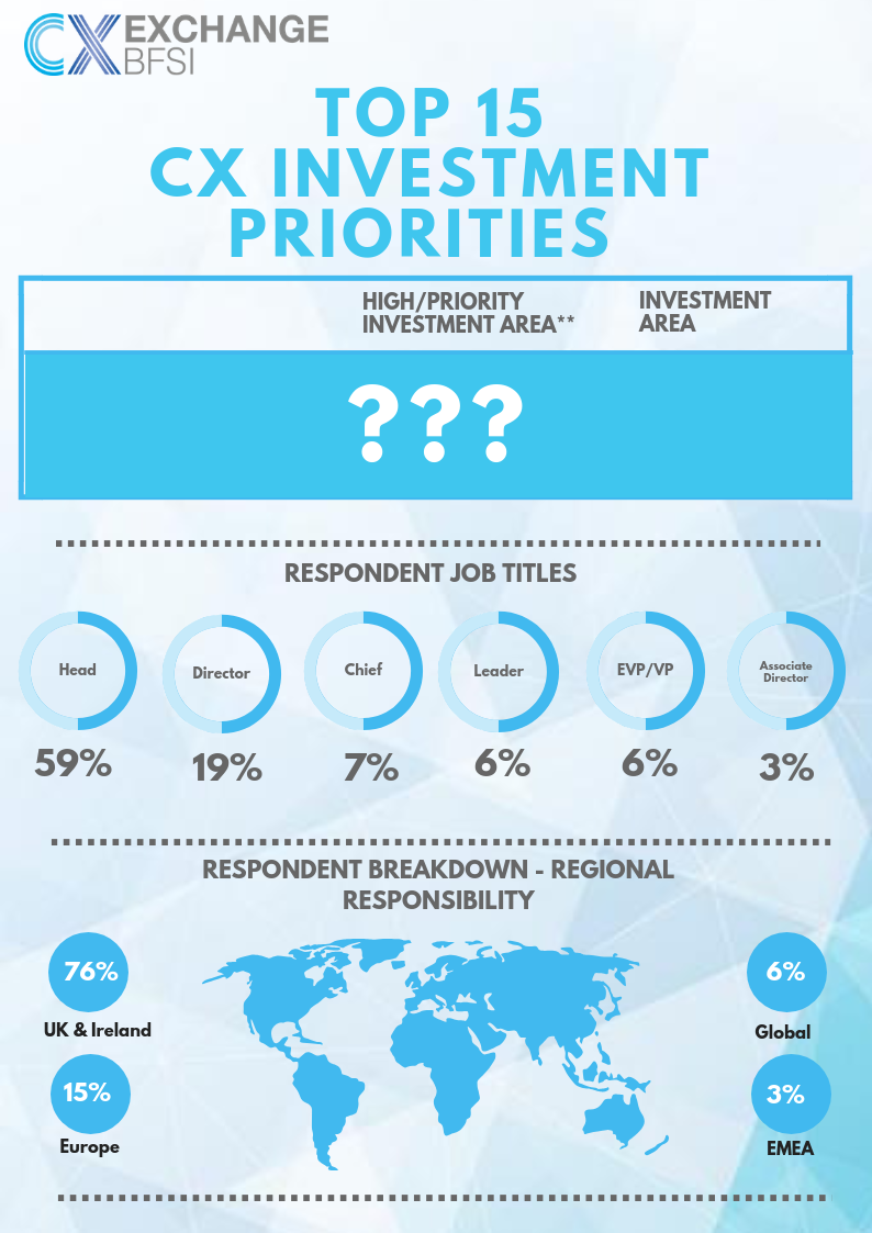 [Infographic] 2019 INVESTMENT PRIORITIES: CX professionals' Top Challenges Revealed! (SPEX)