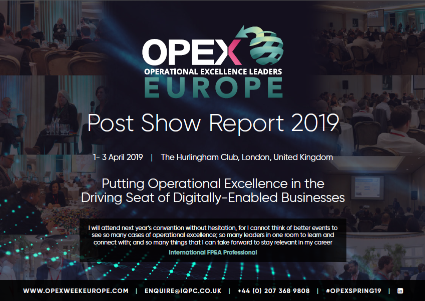 OPEX Leaders Europe Post Show Report 2019