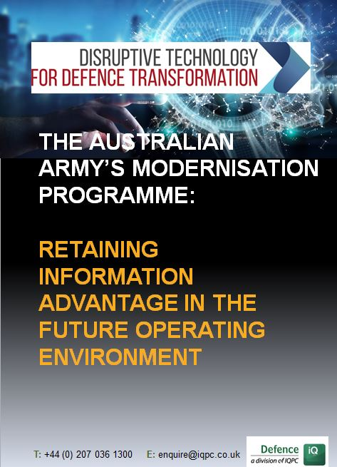The Australian Army's modernisation programme: Retaining information advantage in the future operating environment