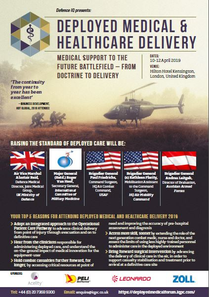 Deployed Medical and Healthcare Delivery 2020 Agenda
