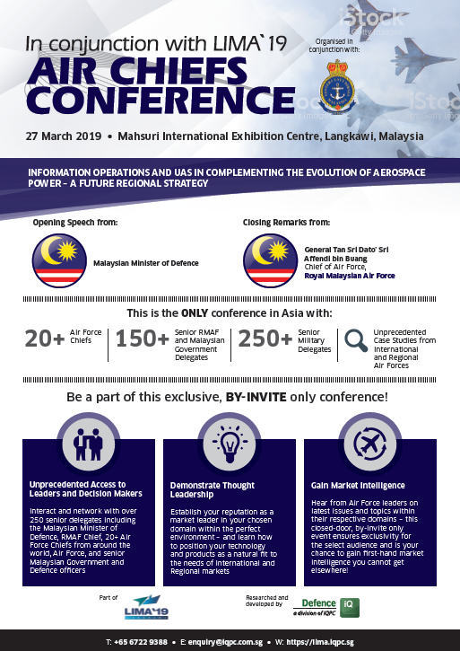View the Conference Outline - LIMA `19 Air Chiefs' Conference