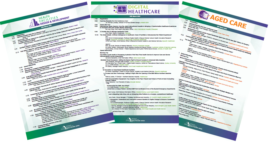 Australian Healthcare Week 2020 Conference Agendas