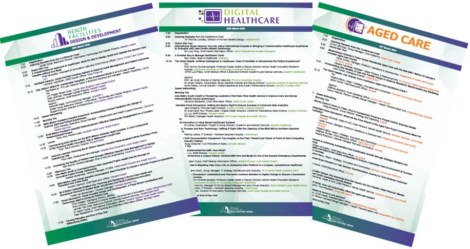 Australian Healthcare Week 2021 Conference Programs