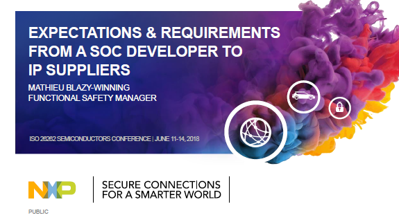NXP Presentation about Expectations & Requirements from a SoC Developer to IP Suppliers