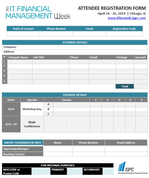 IT Financial Management 2019 Registration Form