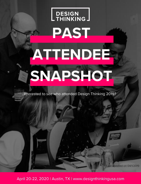 Design Thinking 2019 Past Attendee Snapshot