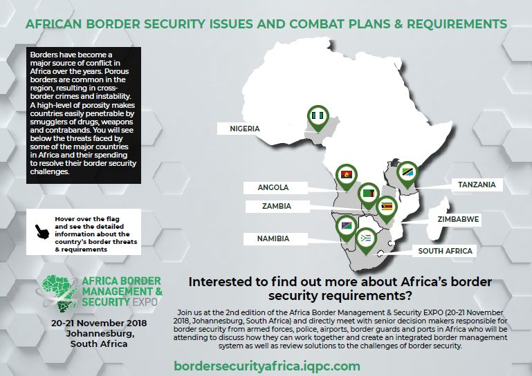 Interactive map: Africa's border security challenges and requirements