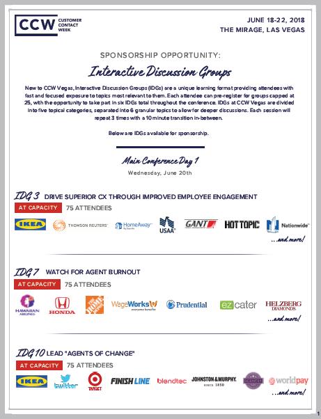 Sponsorship Opportunity: IDGs