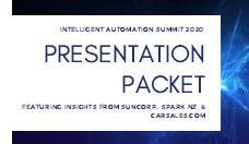 Presentation Packet | Intelligent Automation Summit 2020