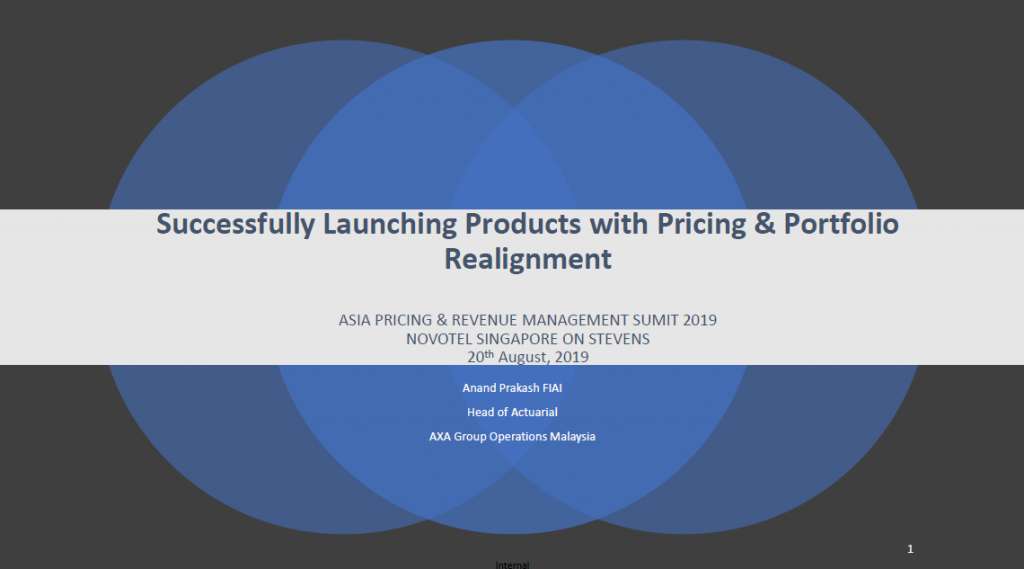 2019 Presentation - Successfully Launching New Products with Pricing and Portfolio Realignment
