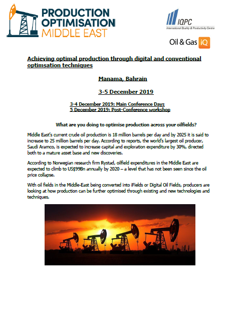Agenda Preview - Production Optimisation Middle East