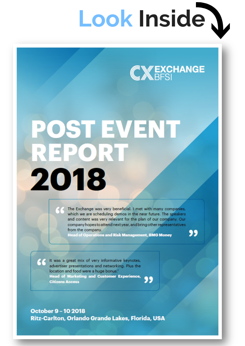 CX Exchange for BFSI 2018 Post Event Report