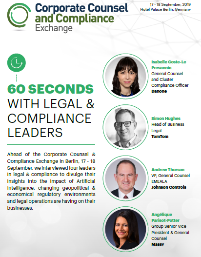 60 Seconds with Legal & Compliance Leaders