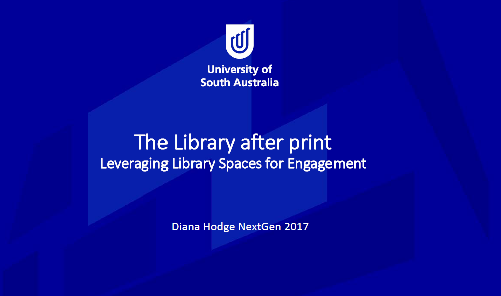 Redesigning and Refurbishing Library Spaces at the University of South Australia in Order to accommodate eBooks and Virtual Enquiry Services