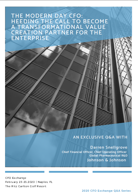 CFO Exchange Series Q&A: The Modern Day CFO: Heeding the Call to Become a Transformational Value Creation Partner for the Enterprise