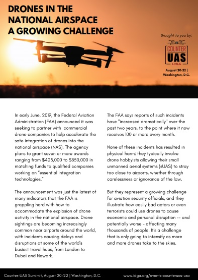 Drones in the National Airspace: A Growing Challenge