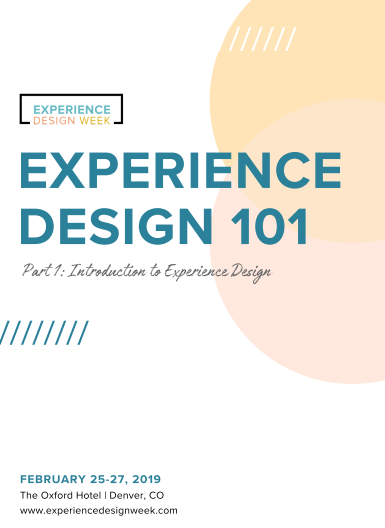 Experience Design 101 (Part 1)