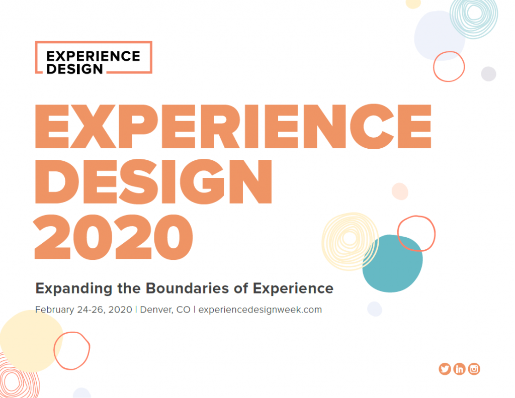 View the Full Event Guide: Experience Design 2020