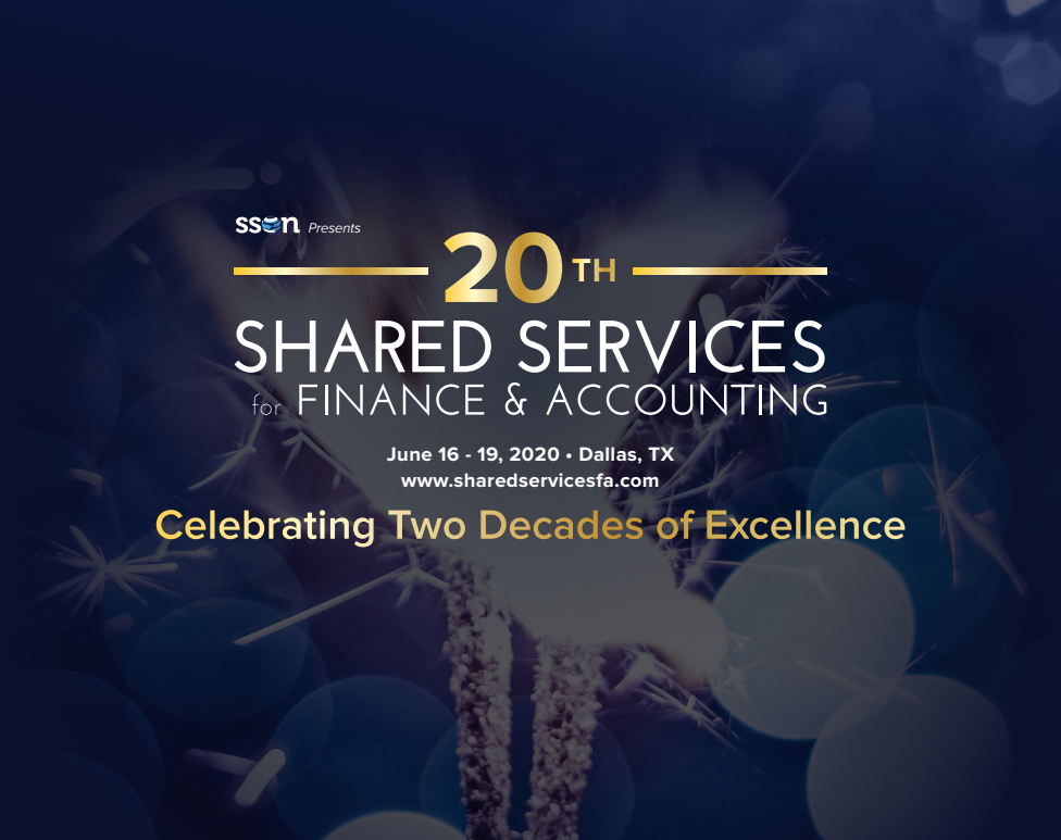 Save the Date for the 20th Shared Services for Finance & Accounting!
